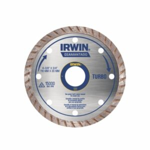 Disco de Corte Diamantado Turbo 110 x 20mm 4.3/8'' Irwin IW13893