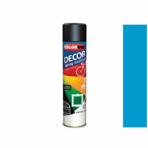 Tinta Spray Decor Multiuso Azul Médio 360ml Colorgin