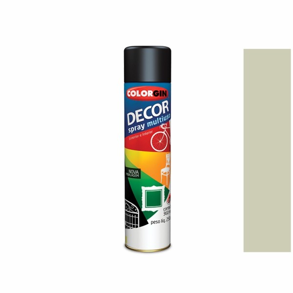Tinta Spray Decor Multiuso Cinza 360ml Colorgin