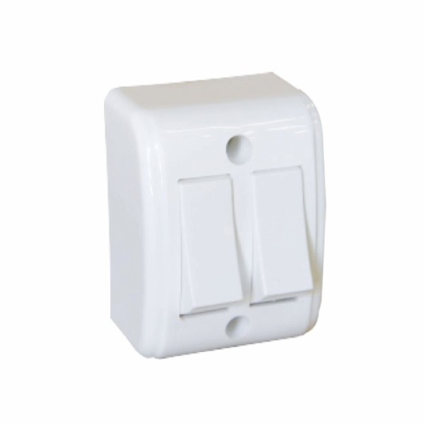 Interruptor Externo 2 Teclas (1 Simples + 1 Paralelo) 10A 250V Branco Mectronic 30093