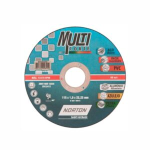 Disco de Corte Multicorte 115 x 1.0 x 22.2mm 4.1/2'' Norton
