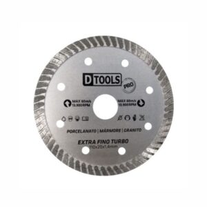 Disco de Corte Diamantado Extra Fino Turbo 110 x 20mm 4.3/8'' Dtools TH5277