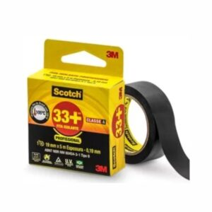 Fita Isolante 33+ 19mm x 5m Preta Scotch 3M